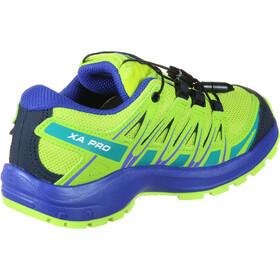 Salomon XA Pro 3D CSWP Shoes Ungdom acid lime/surf the web/tropical green